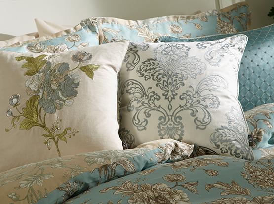 Aquitaine Eau De Nil Bed Cushion Cameo